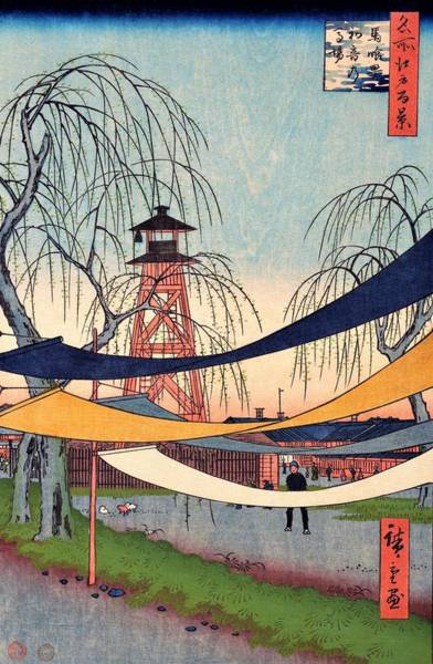 Wall Art - Painting - 100 Famous Views Of Edo - Bakurocho, Hatsune's Baba by Utagawa Hiroshige