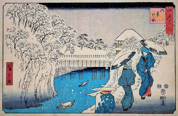 Wall Art - Painting - Famous Views Of Edo - Ochanomizu #2 by Utagawa Hiroshige
