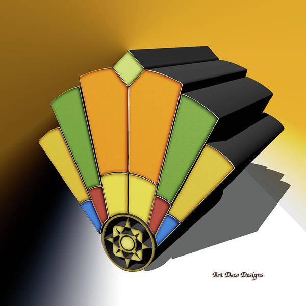 Digital Art - Fan 8 3d Background 3 by Chuck Staley
