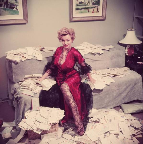 Marilyn Monroe Photograph - Fan Mail by Slim Aarons