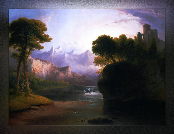 Painting - Fanciful Landscape By Thomas Doughty by Xzendor7