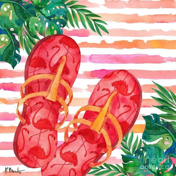 Wall Art - Painting - Fancy Flip Flops IIi by Paul Brent