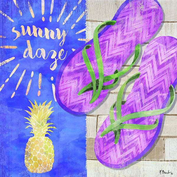 Wall Art - Painting - Sunshine Sandals Vi by Paul Brent