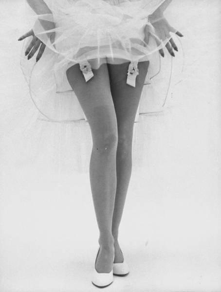 Garter Photograph - Fancy Garters-fashion Shots Of Various E by Gordon Parks
