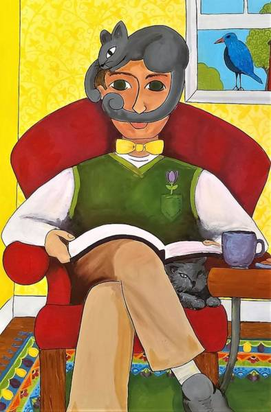 Painting - Fancy Mustache by Caroline Sainis