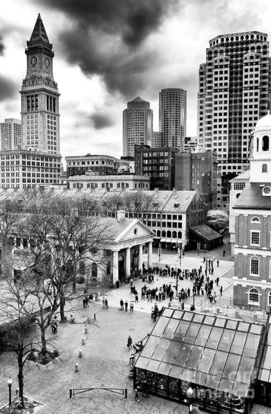 Photograph - Faneuil Hall Marketplace Boston by John Rizzuto