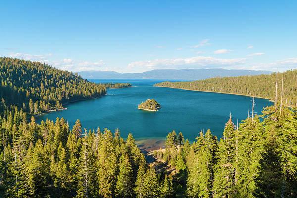 Lake Tahoe Photograph - Fannette Island In Emerald Bay, Lake by Stuart Dee