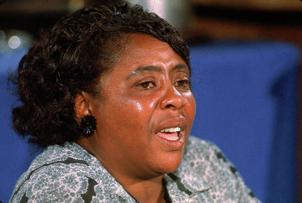 Photograph - Fannie Lou Hamer At 1964 Dnc by John Dominis
