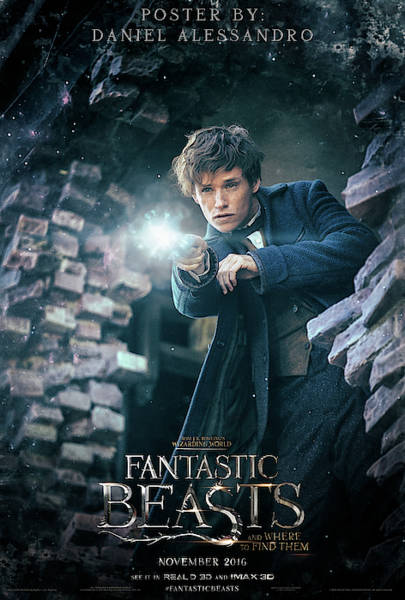 Wall Art - Digital Art - Fantastic Beasts And Where To Find Them by Geek N Rock