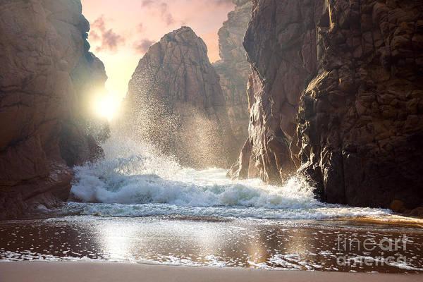 Wall Art - Photograph - Fantastic Big Rocks And Ocean Waves At by Taiga