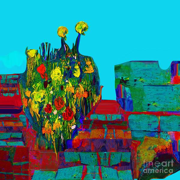 Organic Abstraction Mixed Media - Fantastic Boundaries No. 3 by Zsanan Studio