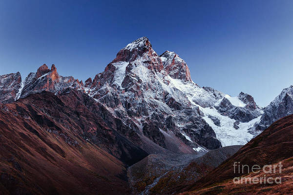 Wall Art - Photograph - Fantastic Scenery And Snowy Peaks In by Standret