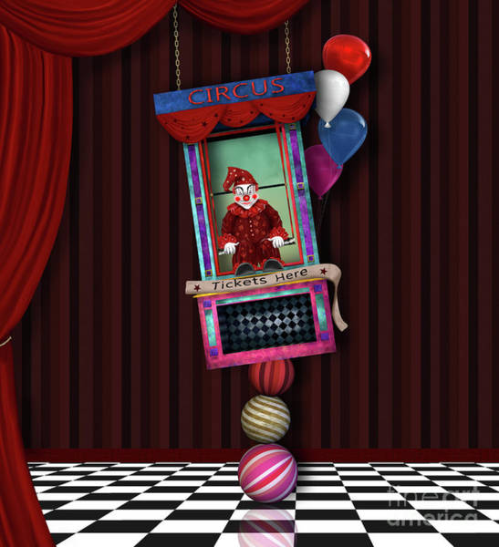 Wall Art - Digital Art - Fantasy Circus by EllerslieArt