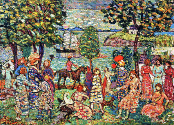 Wall Art - Painting - Fantasy - Digital Remastered Edition by Maurice Brazil Prendergast