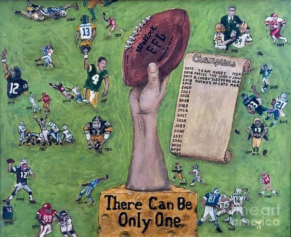 Julio Jones Wall Art - Painting - Fantasy Football League by Richard Wandell