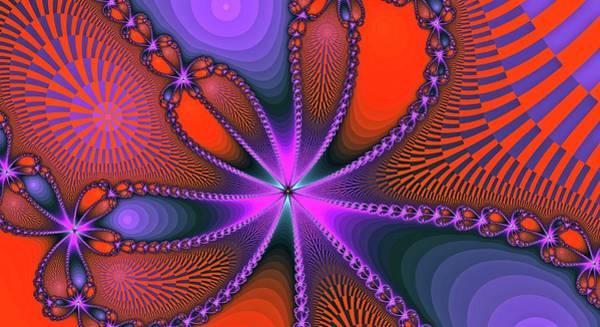 Digital Art - Fantasy Fractal Bloom Orange by Don Northup