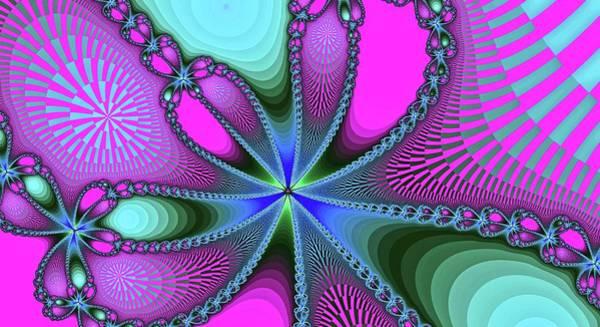 Digital Art - Fantasy Fractal Bloom Pink by Don Northup