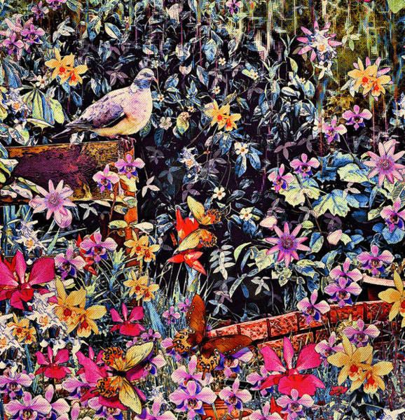 Shrub Mixed Media - Fantasy Garden by Natalie Holland