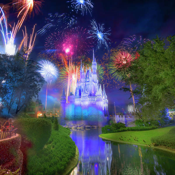 Wall Art - Photograph - Fantasy In The Sky Fireworks At The Magic Kingdom by Mark Andrew Thomas
