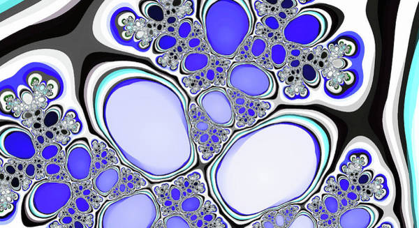 Digital Art - Fantasy Lakes Abstract Art by Don Northup