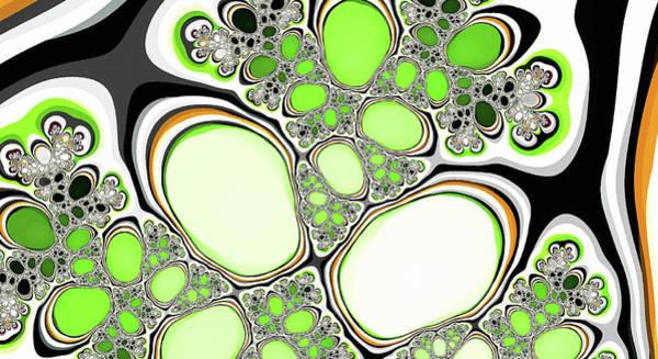 Digital Art - Fantasy Lakes Green Abstract Art by Don Northup