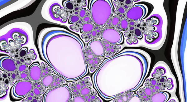 Digital Art - Fantasy Lakes Purple Abstract Art by Don Northup