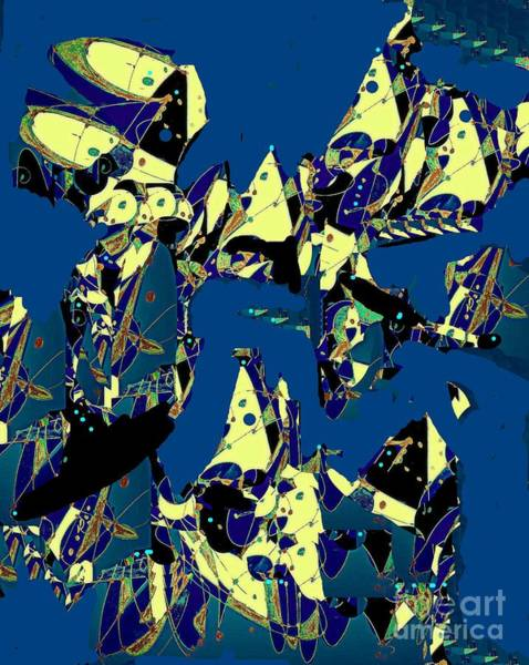 Pale Blue Dot Wall Art - Digital Art - Fantasy Under Sail by Nancy Kane Chapman