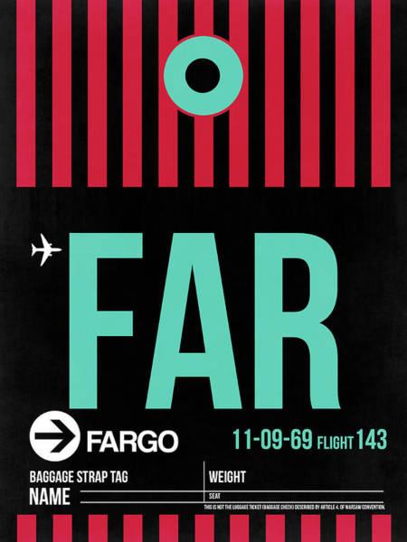 Wall Art - Digital Art - Far Fargo Luggage Tag I by Naxart Studio