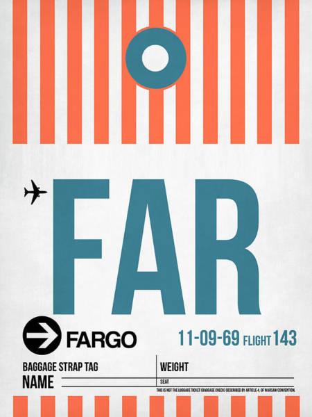 Wall Art - Digital Art - Far Fargo Luggage Tag II by Naxart Studio
