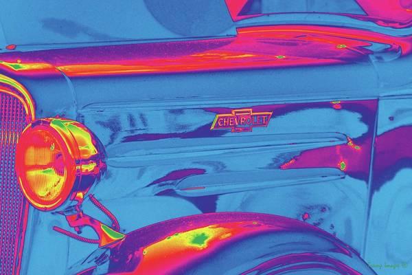 Digital Art - Far-out Chevy by Wesley Nesbitt