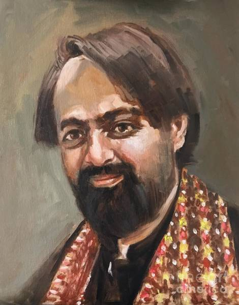 Art Print featuring the painting Farhan Shah by Nizar MacNojia