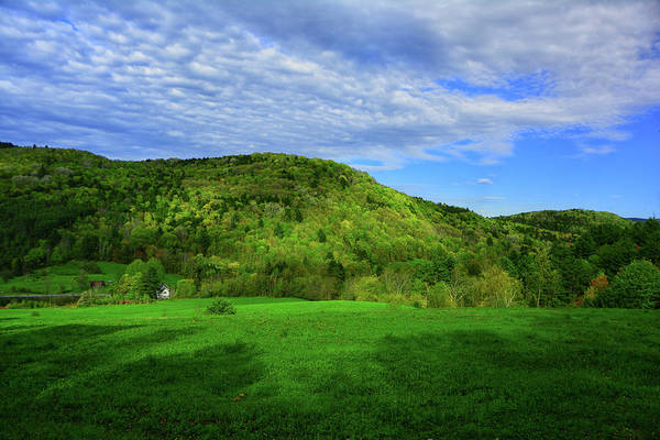 Photograph - Farm Below On The Vt At by Raymond Salani III