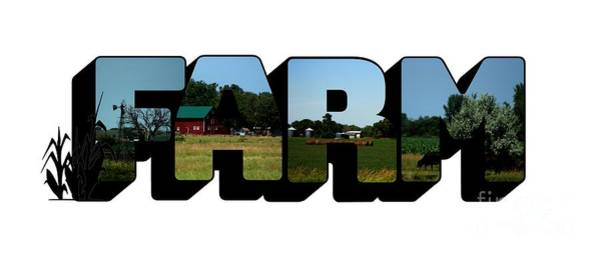 Photograph - Farm Big Letter by Colleen Cornelius