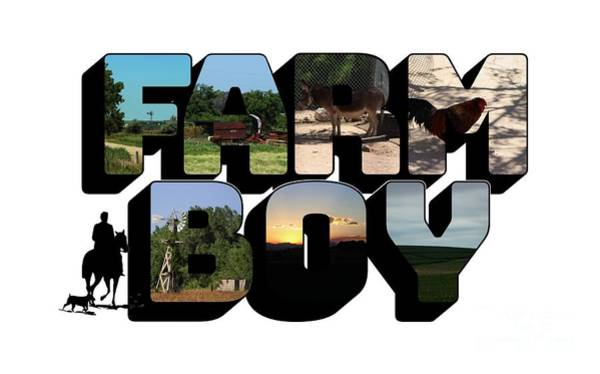 Photograph - Farm Boy Big Letter by Colleen Cornelius