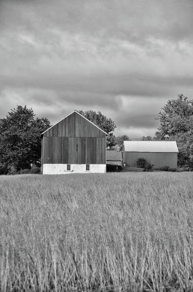 Wall Art - Photograph - Farm - Bucks County Pennsylvania In Black And White by Bill Cannon