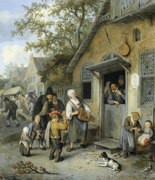 Painting - Farm Fair by Cornelis Dusart
