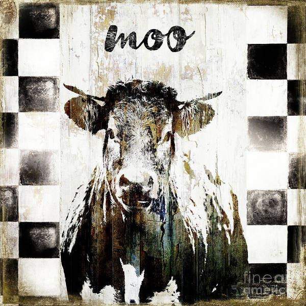 Wall Art - Painting - Farm Family Cow by Mindy Sommers