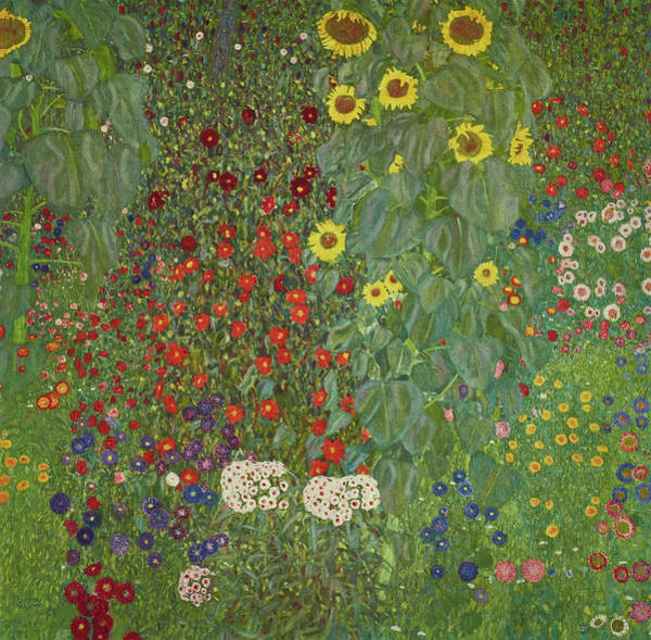 Wall Art - Painting - Farm Garden With Flowers, 1907 by Gustav Klimt