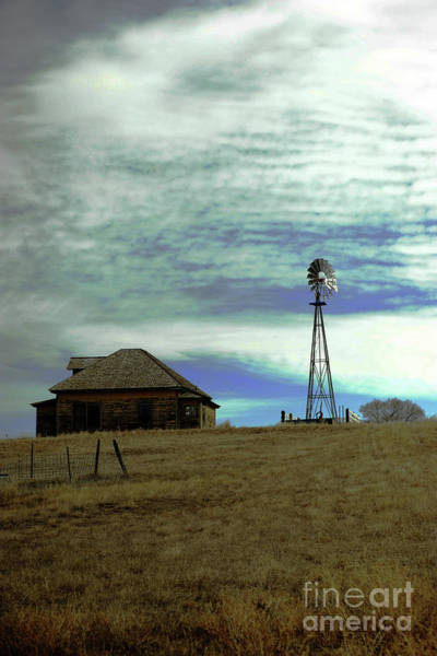 Wall Art - Photograph - Farm House And Windmill by Jeff Swan