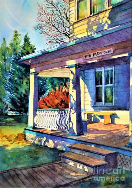 Painting - Farm House by Betty M M Wong