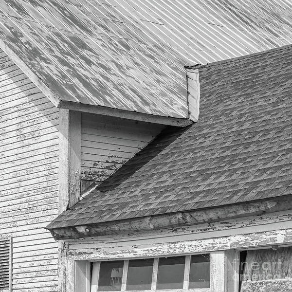 Wall Art - Photograph - Farm House Roof Lines New Topographics by Edward Fielding