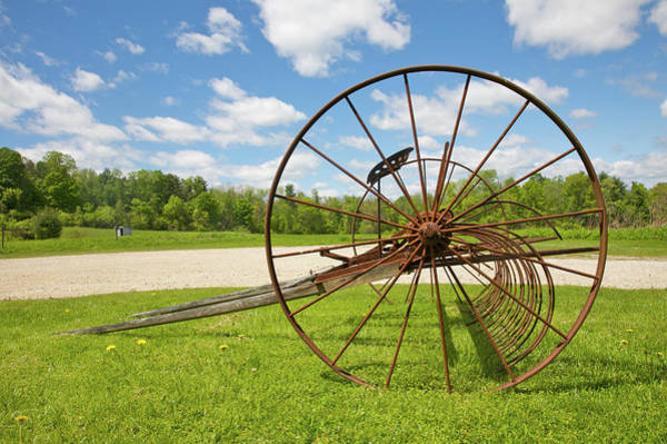 Melville Photograph - Farm Implement At Herman Melvilles by Barry Winiker