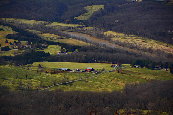 Photograph - Farm In Shenandoah River Valley by Raymond Salani III