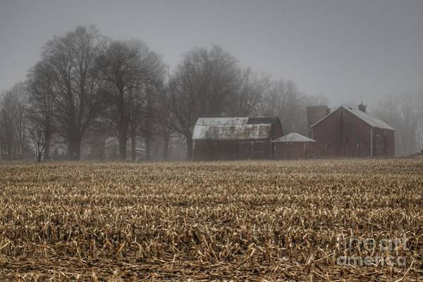 Photograph - 0280 - Farm In The Fog On Barnes Road by Sheryl L Sutter