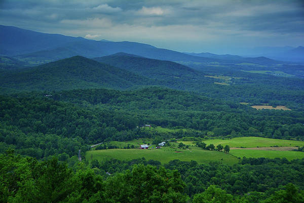 Photograph - Farm In The Shenandoah Valley From Signal Knob Overlook In Shenandoah National Park  by Raymond Salani III