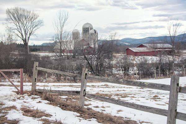 Wall Art - Photograph - Farm In Winter - Vermont by Joann Vitali