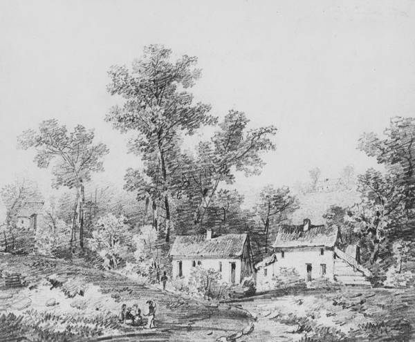 Drawing - Farm Landscape by Thomas Sidney Cooper