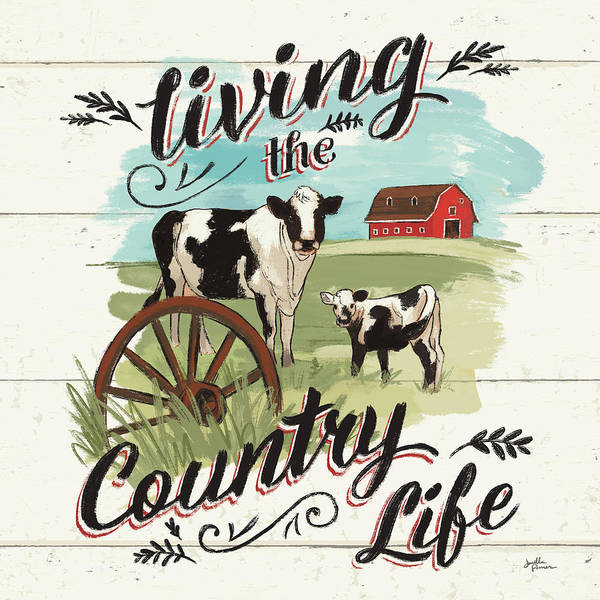 Wall Art - Painting - Farm Life II Country by Janelle Penner