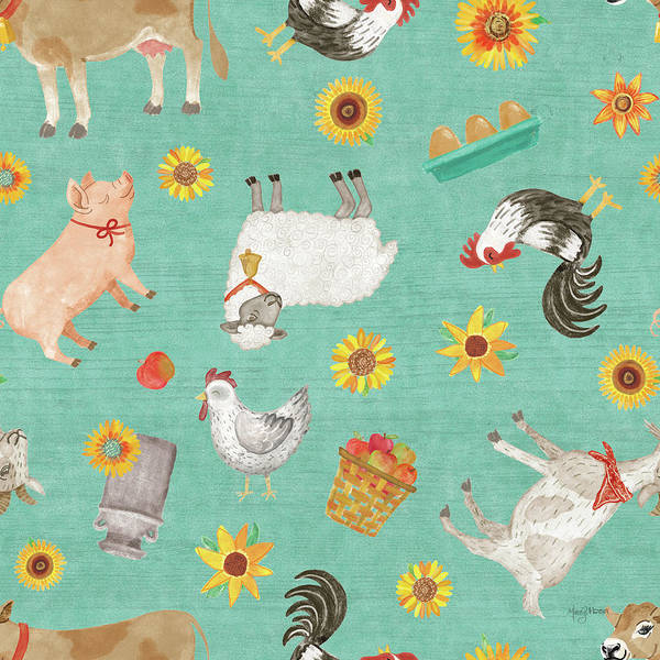 Wall Art - Painting - Farm Market Pattern Ib by Mary Urban
