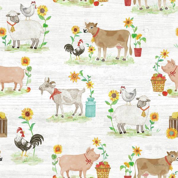 Wall Art - Painting - Farm Market Pattern Viia by Mary Urban